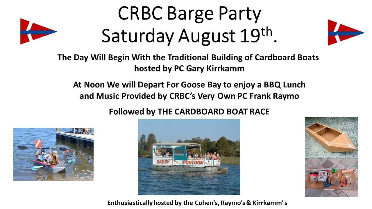 Barge Party & Cardboard Boat Building and Race
