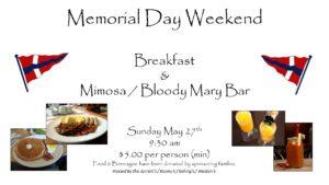 Memorial Day Breakfast @ CRBC Club House