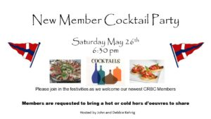 New Member Cocktail Party @ CRBC Club House